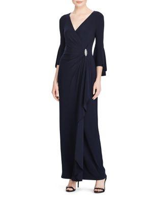 Jersey Bell Sleeve Gown by Lauren Ralph Lauren