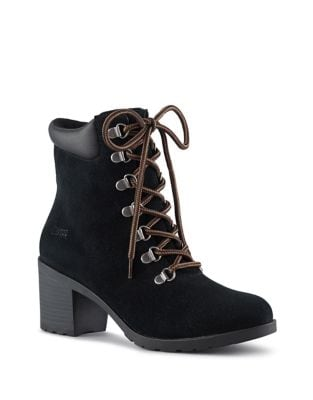 Angie Lace-Up Suede Booties by Cougar