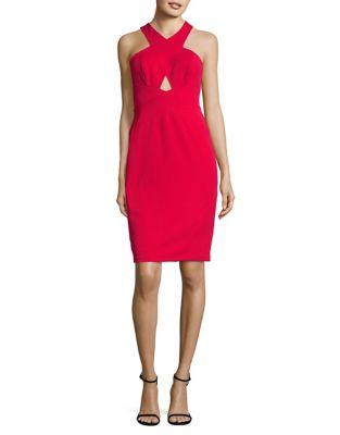 Designed Halter Neck Dress by Aidan Aidan Mattox