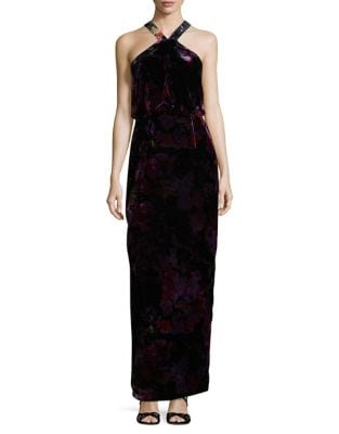 Floral Blouson Dress by Aidan Aidan Mattox