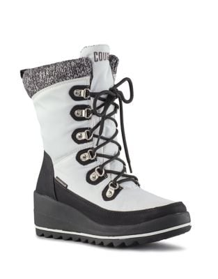 Layne Lace-Up Mid-Calf Boots by Cougar