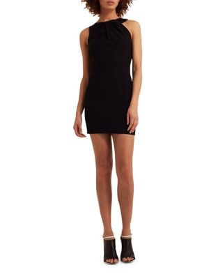 Mina Asymmetric Mini Dress by AQ/AQ