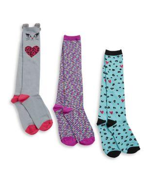 Three-Pack Intarsia Socks...