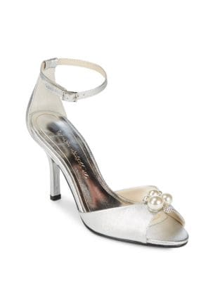 Joy Metallic Leather Dress Sandals by Caparros