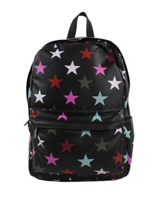 Nora Star-Print Faux Leather Backpack 500087311851