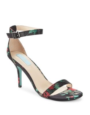 Shilo Satin Embellished Dress Sandals by Betsey Johnson