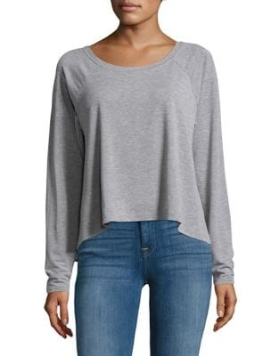 Cropped Heathered Sweater...