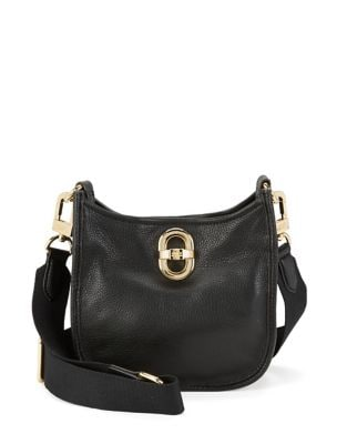 Pebbled Leather Crossbody...
