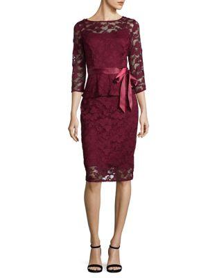 Lace Mesh Knee-Length Dress by Chetta B