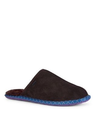 Suede Round Toe Slippers...