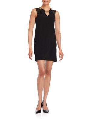 Hardware Accented Shift Dress by Xscape