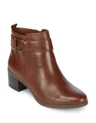 Jeannie Leather Booties by Anne Klein