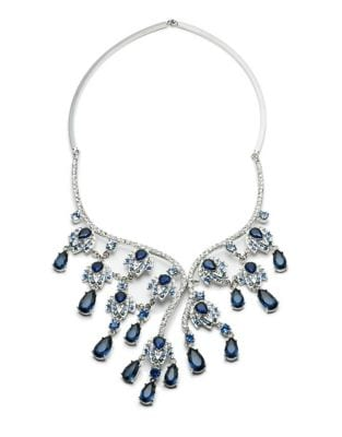 Imperial Sky Asymmetrical Statement Necklace 500087323615