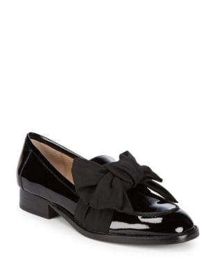 Violet Patent Leather Bow Loafers by Botkier New York