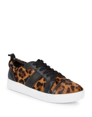 Harvey Calf Hair Leather Sneakers by Botkier New York