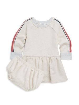 Baby Girl's Two-Piece Speckle Dress & Bloomers Set 500087324175
