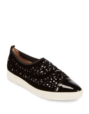 Arden Embellished Slip-On Sneakers by Karl Lagerfeld Paris
