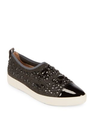 Arden Embellished Textile Sneakers by Karl Lagerfeld Paris
