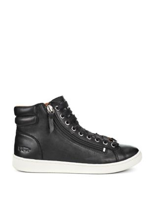 Olive Leather High-Top Sneaker by UGG