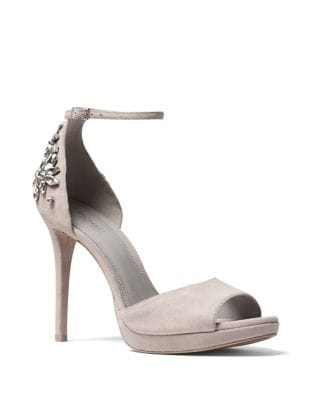 Patti Suede Peep Toe Pumps by MICHAEL MICHAEL KORS