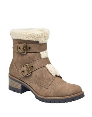 Lolly Microsuede Booties by Anne Klein
