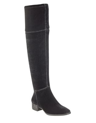 Kimmie Velvet Over-the-Knee Boots by Anne Klein