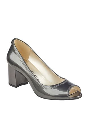 Slip-On Patent Leather Pumps by Anne Klein