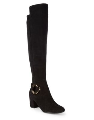 Cami Over The Knee Suede Boots by Karl Lagerfeld Paris