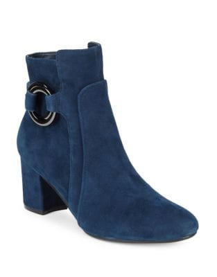 Cosette Leather Booties by Karl Lagerfeld Paris
