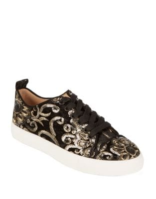 Evron Intarsia Sequin Sneakers by Karl Lagerfeld Paris