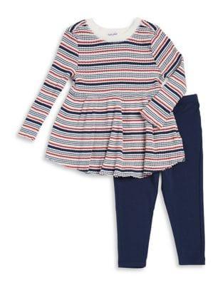 Babys TwoPiece Striped Sweater  Stretch Pants Set