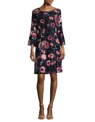 Floral Crepe A-Line Dress by Ivanka Trump