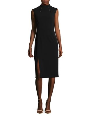Embellished Mockneck Sheath Dress by Ivanka Trump