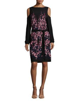 Floral Belted Cold-Shoulder Dress by Ivanka Trump