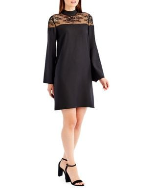 Lace Bell Sleeve Dress by Nicole Miller New York