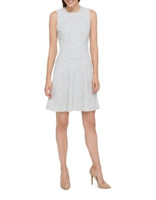 Lame Knit Tweed Fit-&-Flare Dress by Tommy Hilfiger