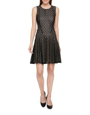 Sundial Lace Fit-&-Flare Dress by Tommy Hilfiger