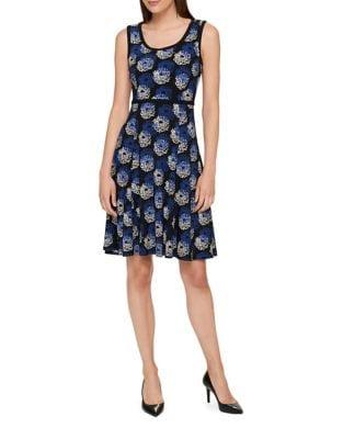 Dandelion Print Jersey Fit-&-Flare Dress by Tommy Hilfiger