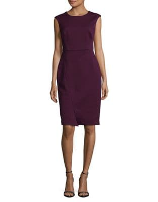 Sleeveless Zip Sheath Dress by Vince Camuto