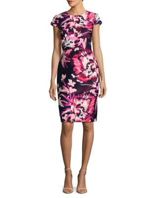 Floral Sheath Dress by Vince Camuto
