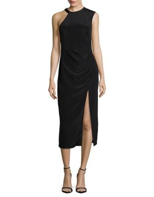 One Shoulder Sleeveless Dress by Nicole Miller
