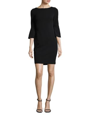 Petite Crepe Sheath Dress by Calvin Klein