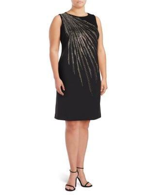 Plus Firework Sheath Dress by Calvin Klein