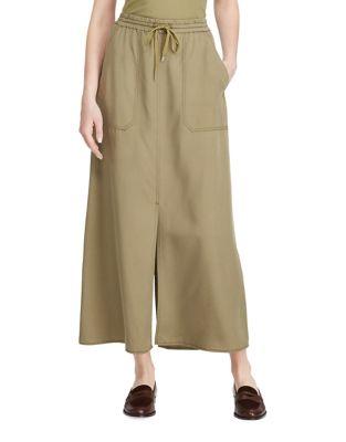 Twill Cargo Maxi Skirt...