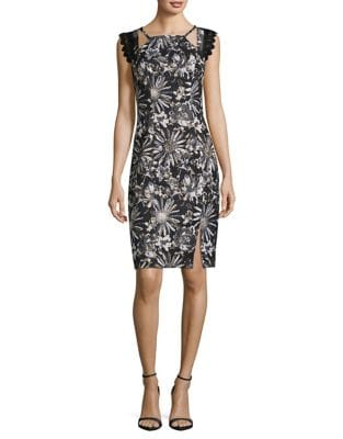 Sheath Dress by Badgley Mischka Platinum