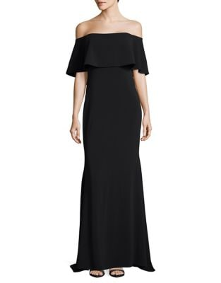 Off-The-Shoulder Floor-Length Gown by Badgley Mischka Platinum
