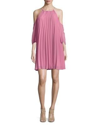 Gretel Pleated Chiffon Mini Dress by BB Dakota