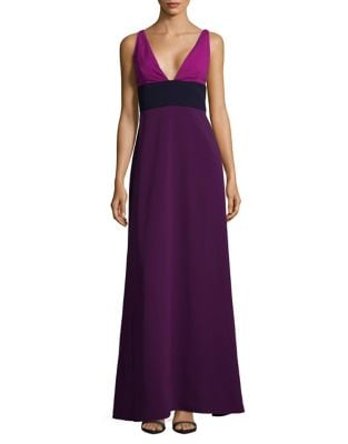 Deep V-Neck Sleeveless Long Gown by Jill Jill Stuart