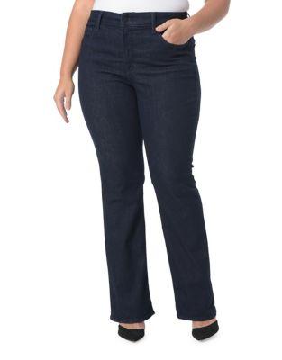 Plus Rinse Boot Cut Jeans 500087335879