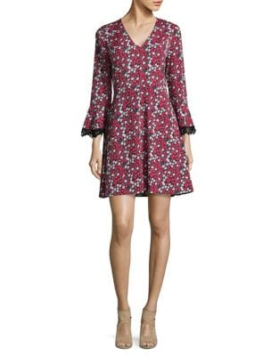 Printed Long-Sleeve Dress by Mika & Gali